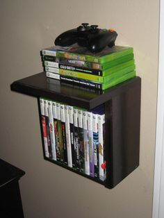 I made 4 of these for video game and controller storage. Mounted two on each side of the tv. Super easy construction!!