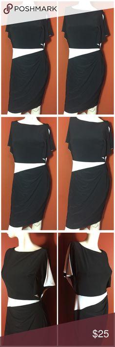 Lauren Ralph Lauren dress black and white size 6 Beautiful Lauren Ralph Lauren dress size 6. In excellent conditions. 95% Polyester, 5% elastane Lauren Ralph Lauren Dresses Maxi