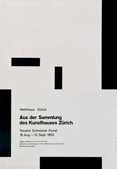 While many of his contemporaries moved to the United States and elsewhere in Europe, Muller-Brockmann based himself in Zurich and established his reputation there. He adapted his approach to a changing world, moving from an early illustrative style to a modern constructivist approach, making full use of geometrical form and the grid system to provide an underlying structure to graphic work