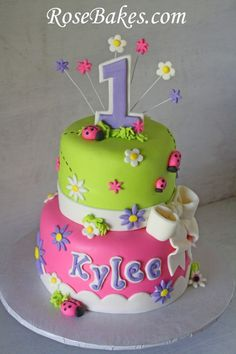 Sweet Ladybug Birthday Cake ~ @Paula mcr mcr mcr Eby Can you make this for Olivia's next birthday? ;)