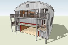 Container House - Modern House Plans by Gregory La Vardera Architect: July 2008 - Who Else Wants Simple Step-By-Step Plans To Design And Build A Container Home From Scratch? Shipping Container Buildings, Shipping Container Home Designs, Container House Design, Shipping Containers, Container Houses, Cargo Container Homes, Building A Container Home, Container Architecture, Sustainable Architecture
