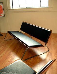 Ply Bak Sofa  Eames Era retro lounge by lunarloungedesign on Etsy, $800.00