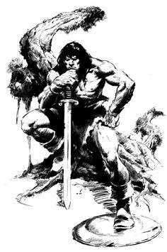 440510-conan_john_buscema01_super.jpg (600×904) #Conan by #John_Buscema