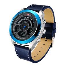 KAT-WACH Dual Display Waterproof Watch Chronograph Luminous Mens Sport Watches online - NewChic