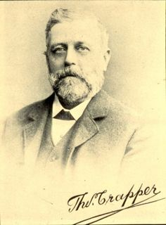 Thomas Crapper (baptised 28 September 1836; died 27 January 1910) was a plumber who founded Thomas Crapper & Co in London. Contrary to widespread misconceptions, Crapper did not invent the flush toilet. He did, however, do much to increase the popularity of the toilet, and developed some important related inventions, such as the ballcock.