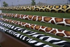 Jumps West | Custom Horse Jumps and Dressage Products Made to Order. Super cool safari print poles