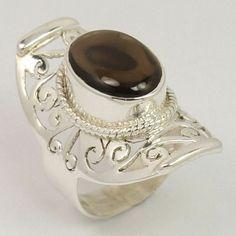 Handmade Art Ring Size US 6.75 Natural SMOKY QUARTZ Gemstone 925 Sterling Silver #Unbranded Smoky Quartz Ring, Amethyst Gemstone, Handmade Art, Sterling Silver Jewelry, Gemstones, Natural, Passion, Jewels, Accessories