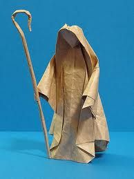 A humble shepherd - lovely & evocative  (Marius Iana) Max Origami (could also be done with paper mache)