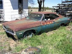 1968 Impala SS 427 left to rot.... What a shame!