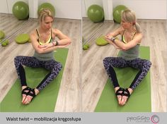 waist twist for spine mobility