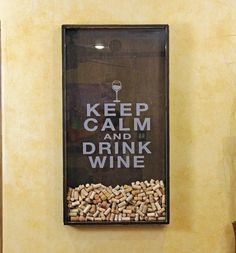 #Wine cork shadow box...too cool!