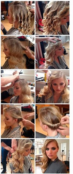 Step by step hairstyle :: how to do glamourous sexy party hair :: A Do A Day hairstyle - Cosmopolitan
