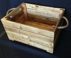 Pallet wood storage/toy box, another favourite, I'm going to make another one and use as a large log basket
