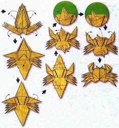 Diagramme d'origami du zodiaque : le cancer