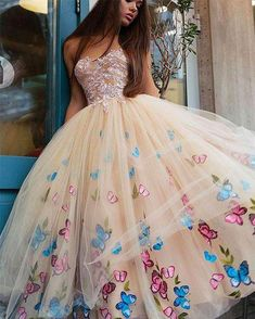 Browse Our Large Selection of Prom Dresses,Sexy Champagne Strapless Ball Gown Tea-Length Tulle Prom Dress for Princess,Long Formal Dress at Simibridaldresses Quince Dresses, 15 Dresses, Pretty Dresses, Sexy Dresses, Beautiful Dresses, Wedding Dresses, Fashion Dresses, Amazing Dresses, Wedding Shoes