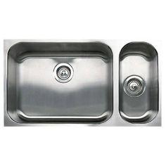 a56a00416b57 Blanco 440312 Spex 1-1 2 Bowl Undermount Sink In Satin -501-