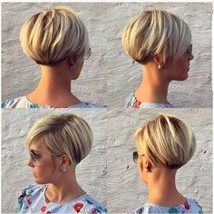 Bob Haircuts For Women, Cute Short Haircuts, Short Hair Cuts For Women, Stacked Haircuts, Long Pixie Hairstyles, Popular Hairstyles, Short Hairstyles For Women, Cut Hairstyles, Hairstyles Pictures