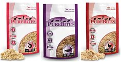 PureBites Freeze Dried Cat Treats 3 Flavor Variety Bundle: (1) Ocean Whitefish, (1) Chicken Breast and (1) Shrimp, .28-.60 Ounces Each (3 BAGS TOTAL) *** Details can be found by clicking on the image. (This is an affiliate link and I receive a commission for the sales) #Cats