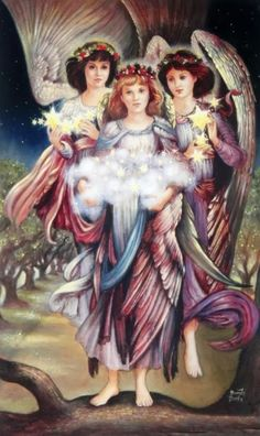 Fine Art and You: Classical Realist Painter Brenda Burke Angels Among Us, Angels And Demons, Margaret Kane, Angels Beauty, Angel Guide, Angel Quotes, I Believe In Angels, Ange Demon, Angel Pictures