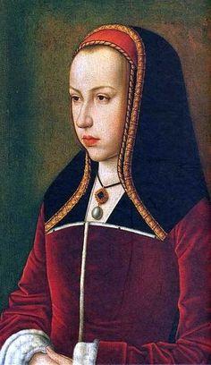 Juana I de Castilla.   (6 de noviembre de 1479 –  12 de abril de 1555). Hija de los Reyes Católicos, Isabel y Fernando. Se casó con Felipe, archiduque de Austria.
