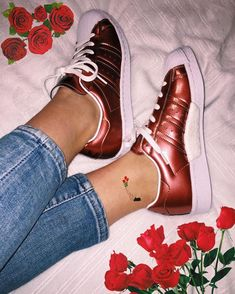 Adidas superstar w bronze, roses