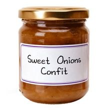 SWEET ONION CONFIT $10.90 This flavorful sweet onion confit is perfect on small toasts or with a cheese plate. It will also put a refined touch to your dishes. Contains no coloring agents or preservatives.  L'Épicurien, run by master jam maker Bernard Le Gulvout, combines fruit quality, traditional methods and creativity to make amazing jams, confits and chutneys.  210 grams / 7.4 oz