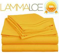 Lamma Loe Supreme 1500 Series 4pc Bed Sheet Set