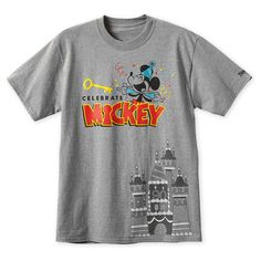Product Image of Mickey Mouse ''Celebrate Mickey'' T-Shirt for Men - Disneyland # 1 Disney Shirts For Men, Shirts For Girls, Mickey Shorts, Mickey Mouse Images, Disney Outfits, Disney Clothes, Cartoon Design, Disney Merchandise, Disney Style