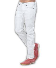 White Stretch Custom Jeans #Custom_Jeans #Custom_Tailored_Jeans #Custom_Made_Jeans