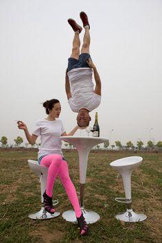 Artist Li Wei is: gravity-defying...cracks me up.