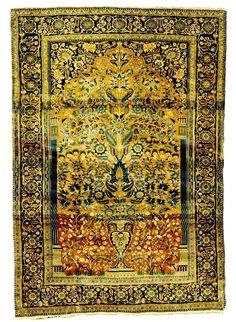 Mohtashem Kashan Prayer Rug c. 1900 Lot 98