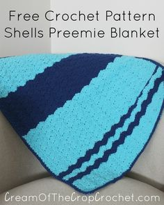 I have always been scared of the shell stitch, which is why you won't find many patterns containing it, although I decided it was about time to create a Shells Preemie Blanket. I hope y'all enjoy it! Skill Level Intermediate Size Included 3-5 lb Preemie Finished Size 22″ x 19″ *These are our finished measurements. …