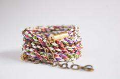 Rust Multi Wrap Bracelet.