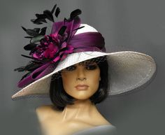 Ready to Wear and Custom Hats for Women and Men. Gena Conti Millinery designs hats that not only fit but complement any lifestyle. Kentucky Derby Outfit, Kentucky Derby Fashion, Chapeaux Pour Kentucky Derby, Fascinator Hats, Fascinators, Headpieces, Derby Outfits, Tea Party Hats, Church Hats