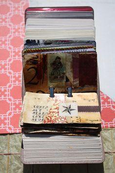 The Rolodex Journal Project & Swap – Brian Kasstle Art Journal Pages, Art Pages, Art Journals, Journal Notebook, Junk Journal, Bullet Journal, Altered Books, Altered Art, Rolodex