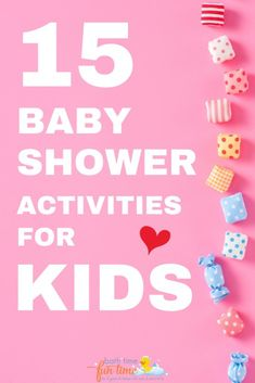 15 Best baby shower activities for kids & children - these baby shower games & activities are FUN for kids of all ages. Plus they're each for you - plan your baby shower quickly & with one less thing to worry about with these great baby shower activities for kids.