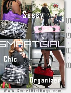 Use code SMART15 for 15% off. SmartGirl bags are the world's perfect ladies organizer tote bags. With glam designs and ultra functional organized, these tote bags perfect for the woman on the go! With