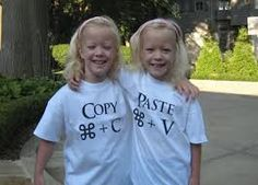 For Twins. Copy + Paste – The computer nerd in me loves these. Make these tees on your own. Twin Halloween, Diy Halloween Costumes, Halloween 2018, Costume Ideas, Twin Girls, Twin Sisters, Two Of A Kind, Identical Twins, How To Have Twins