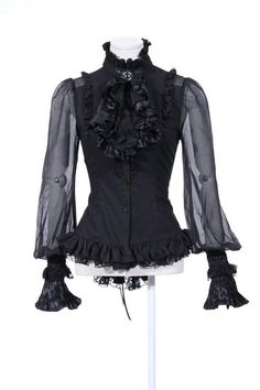 RQ BL 2014 Women's Gothic Blouse Victoria ruffles Shirt high collar Lolita big sleeves blouse 21094-in Blouses & Shirts from Apparel & Accessories on Aliexpress.com | Alibaba Group