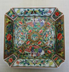 Hong Horizons CANTON ROSE DESIGN Dish Discontinued Vintage Chinese Porcelain on Esty $31.99 by pegi16