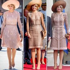 • Her style in Day 1 of State Visits!   . . 1 : Queen Maxima State Visit Italy Day 1 on 2017. . 2 : Queen Maxima today in Portugal  . 3 : Queen Maxima State Visit France Day 1 on 2016. . What is your favorite?  .