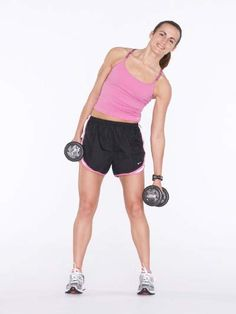 Side Bends with Dumbbell