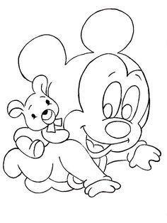 disney babies coloring pages disney babies coloring pages Baby Coloring Pages, Animal Coloring Pages, Coloring For Kids, Coloring Books, Easy Drawings Sketches, Cartoon Drawings, Baby Mickey, Mickey Mouse, Disney Coloring Pages Printables
