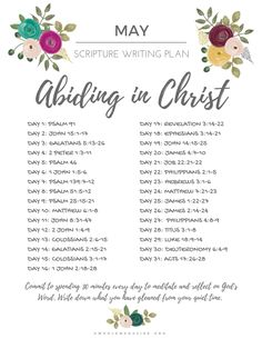 May Scripture Writing Plan - Abiding in Christ — Whole Magazine