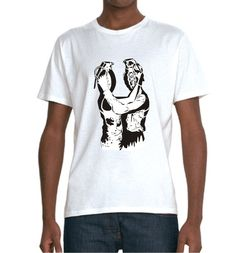 Dolk Grenade Lovers T-shirt – £17    http://banksyt-shirts.com/dolk-grenade-lovers-t-shirt/    Dolk an artist we love from Norway released a print of Grenade Lovers design in 2009. The 150 signed and embossed copies sold out very quickly as do most of his print releases now.    To buy a print now would cost upward of £ 500 on ebay so Banksy T-shirts has stepped in with an affordable alternative!    A two colour print on a super soft organic t-shirt, a fine tribute to brilliant street artist.