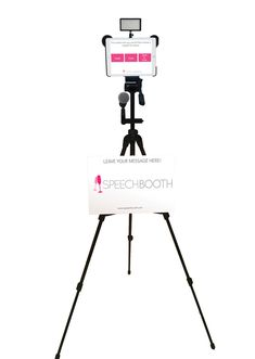 Portable video booth to capture well-wishes of guests (SpeechBooth) for only $500?? including edited video?!