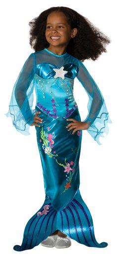 Blue Mermaid Child Costume   Mermaid Costume for Kids