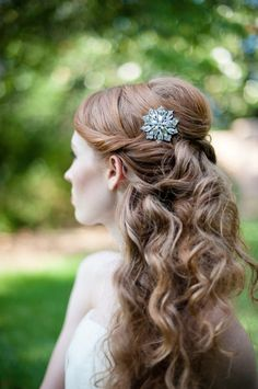 Neat half up hair with twist