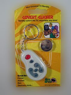 COVERT CLICKER......... Want to mess with those guys in the sports bars. You know the ones that like that team you hate? Well, we have the perfect device for you. Just when their team is ready to score you change the channel without anyone knowing it's you that did it.... WHAT!  www.theonestopfunshop.com
