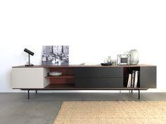 New joost selection 2020 - kast - sideboard - walnut - design - cupboard - tv kast - pastoe Media Furniture, Wardrobe Furniture, Cool Furniture, Furniture Design, Tv Console Design, Tv Unit Design, Living Room Tv Unit, Living Room Interior, Minimalist Room
